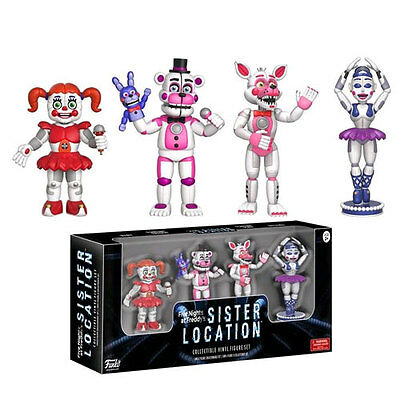 """Five Nights at Freddy's: Sister Location 2"""" Vinyl Figure Figures - Pack of 4 NEW"""