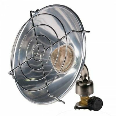 Kampa Single Portable Camping Gas Twist-On Parabolic Heater - 1kW