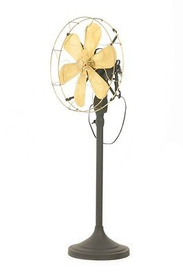 """14"""" Blade Electric Floor Stand Fan Oscillating Vintage Metal Brass Antique style"""