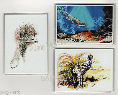 "1 ACEO MINI AUSTRALIAN ART PRINT; 2""x3"" DRAWING, CHOOSE 1 PICTURE FROM 7 IMAGES"