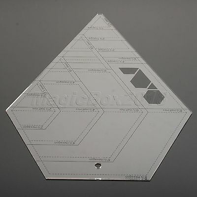 Sewing Quilting Patchwork Ruler Sew Easy Grid Cutting Tools Diamond-shaped