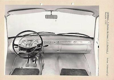 Vauxhall Victor De Luxe Dashboard Period Photograph Pasted To Card.