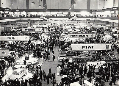 London Motor Show Period Photograph.
