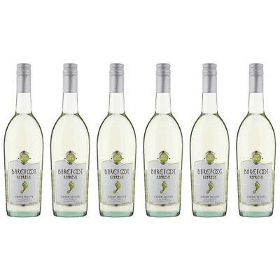 Barefoot Refresh Crisp White Case of 6x75cl White White Wine Case - Drinks21
