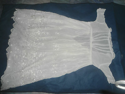 A Gorgeous Fine White Embroidered Christening Gown