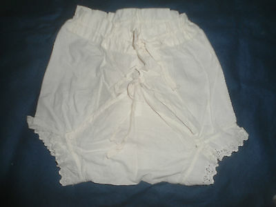 A Pair Of Antique Cotton Baby's Pants/nappy Cover