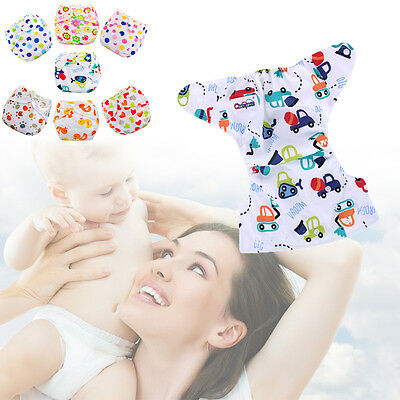Random Baby Diapers Waterproof Cloth Diaper Cover Cartoon Baby Reusable Nappy