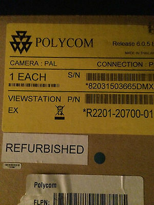 Refurbished In Box Polycom Viewstation 2201-20700-001 Pal Camera