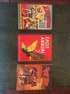 Eagle Annual, Adventure Annual And The Tip Top Annual Vintage