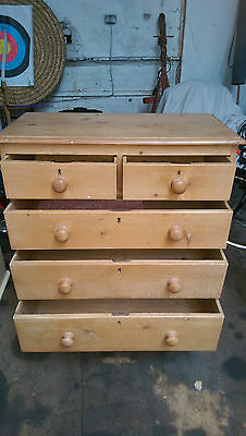 Genuine old  Pine Chest of drawers