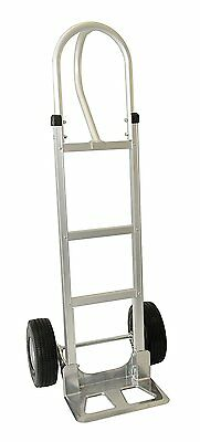 "Mighty Lift AHT-01-AF 52"" Aluminum Loop Handle Hand Truck with 10 Flat-Free 14"""