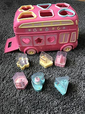 ELC Pink Shape Sorter Bus Complete with 6 Shapes Baby Toddler learning Toy