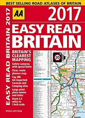 AA Easy Read Britain 2017 (AA Road Atlas) (Easy Read Guides) by AA Publishing