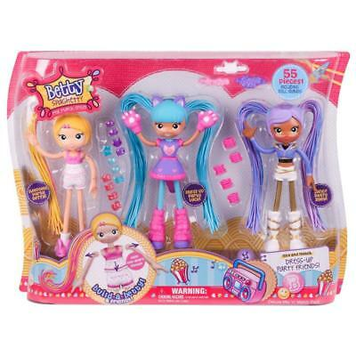 Betty Spaghetty Deluxe Mix N Match Dress Up Party Friends Doll Figure Set