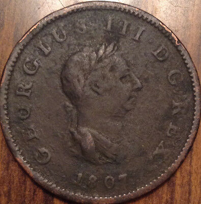 1807 Gb United Kingdom Half Penny In Good Condition