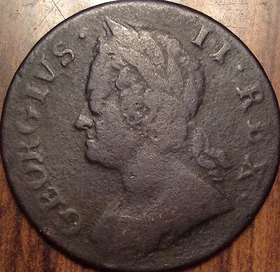 1752 Gb United Kingdom Half Penny