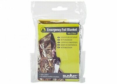 Summit Emergency Outdoor Walking Hike Safety Survival Blanket Insulating Silver