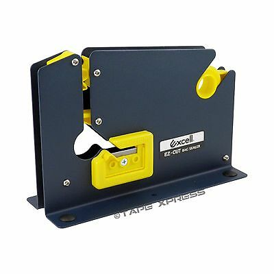"Excell Metal Dispenser For Bag Sealing Tape 3/8"" and 1/2"" With Bag Trimmer"