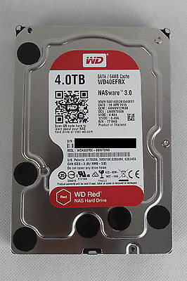 Western Digital WD Red 4TB, Intern, WD40EFRX, SATA, 64MB Cache, bulk