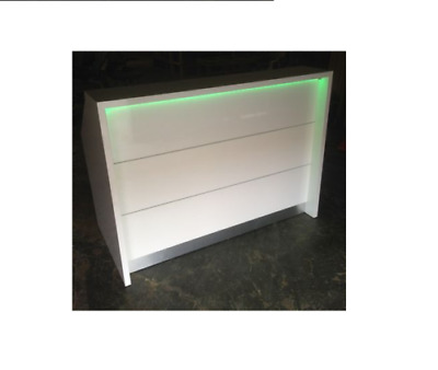 Hair & Beauty Salon Reception Desk with LED Lights - Retail Shop Counter