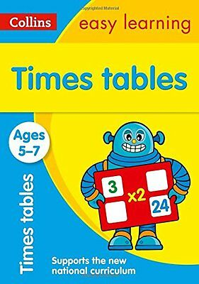 Times Tables Ages 5-7: New Edition (Collins Easy Learning KS1), Collins Easy Lea