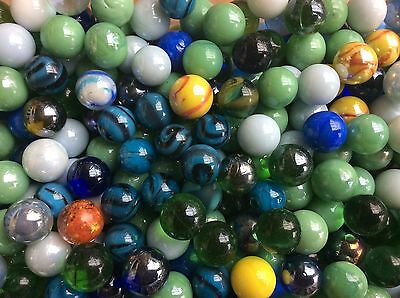 2 litres of imperfect GLASS MARBLES 14-16mm decoration patio interior design