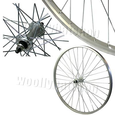 """26"""" Bolted Front Mountain Bike Wheel in Silver"""