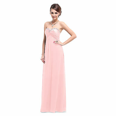 Formal Bridesmaid Gown Ball Prom Cocktail Evening Party Chiffon Long Dress Stock