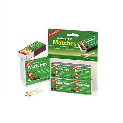Coghlans Waterproof Matches Pack Of 4 (180) - Coghlan's Camping Outdoor Survival