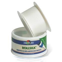 Master-Aid Rollsilk Cerotto In Seta Artificiale Bianco 2,5 cm x 5 mt