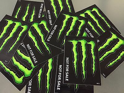 """Monster Energy Drink DECAL STICKER """"4 x 3 inches"""" Lot of 10"""