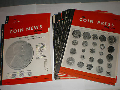 Vintage THE COIN PRESS Coins MAGAZINE 1959 & 1960 LOT of 16 Very Rare
