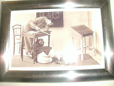 """Bare Bottom Spanking Picture in 6""""x4"""" Silver Frame.Fetish.Pantaloons."""