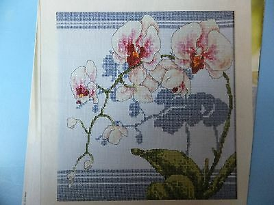 Stunning Floral Orchids Design Pattern / Chart in/for Counted Cross Stitch