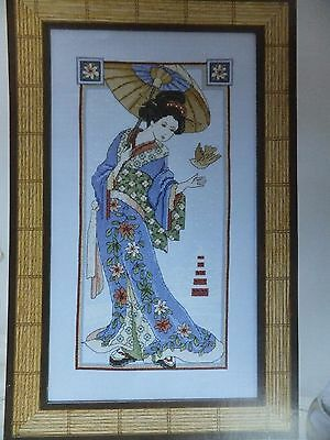 Stunning Oriental Beauty  Pattern / Chart in/for Counted Cross Stitch