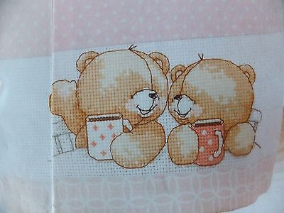 Forever Friends Tea for Two Design Pattern / Chart in/for Counted Cross Stitch