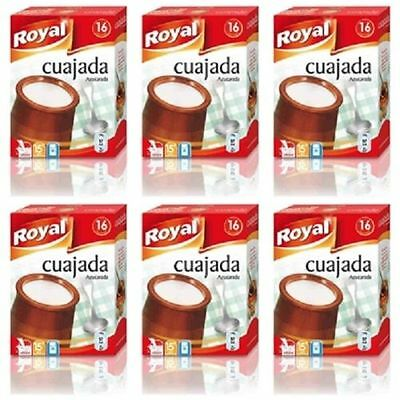 6 PACKETS - TRADITIONAL SPANISH - CUAJADA - 288 gr X 96 SERVINGS - NEW
