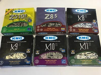 KMC Bicycle Chains 1, 6, 7, 8, 9, 10 and 11 Speed options Excellent Quality