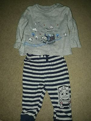 my first thomas outfit. thomas the tank engine. 3-6 months boys