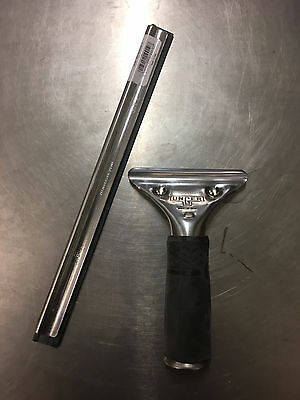 "Complete Stainless Steel Unger PR250 Handle with 10"" Pro Squeegee"