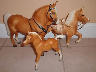 Vintage Breyer Traditional Model Western Horse Pony Palomino Foal Mare Lot of 3