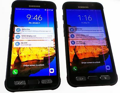 UNLOCKED Samsung Galaxy S7 Active G891A AT&T 4G LTE <LCD SHOW PURPLE LINE> READ!