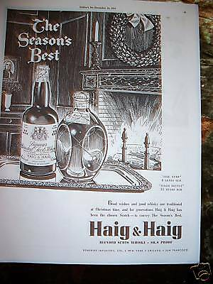 1937 Haig & Haig Scotch Season's Best Ad