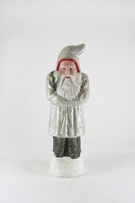 """*NEW* CODY FOSTER Christmas LARGE GRAY VICTORIAN BELSNICKLE FIGURINE 14"""" TALL"""