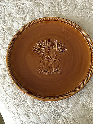 "Franciscan wheat brown 1 chop plate 13"" harvest round nice"