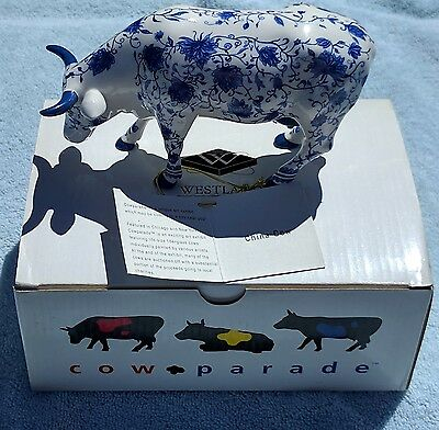 Cow Parade Retired China Cow Original Box W/ Tag