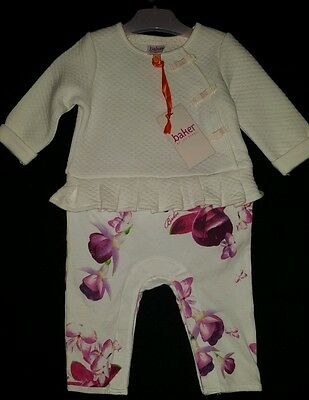 Baby Girls Ted Baker Outfit 3-6 Months BNWT Pretty Floral Spring/Summer