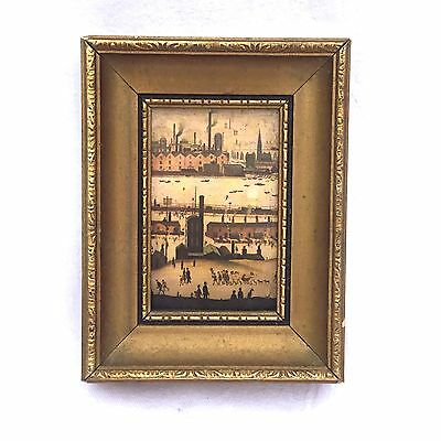 Vintage Antique Small Minature Lowry Picture Print ? Photo Frame