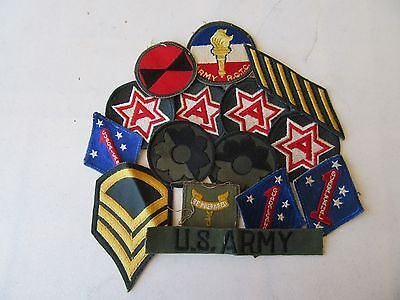 Lot Of 15 U.s. Army Military Patches