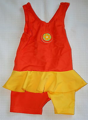 Boots - orange and yellow swimming costume - age 6 - 12 months